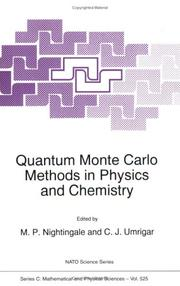 Cover of: Quantum Monte Carlo Methods in Physics and Chemistry (NATO Science Series C: (closed)) |
