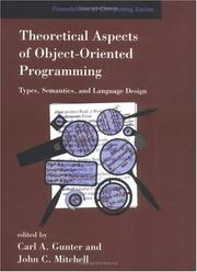 Cover of: Theoretical Aspects of Object-Oriented Programming |