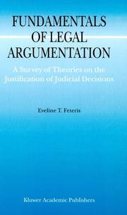 Cover of: Fundamentals of legal argumentation