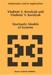 Cover of: Stochastic models of systems