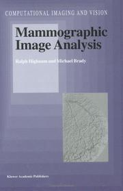 Cover of: Mammographic image analysis