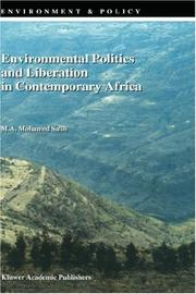 Cover of: Environmental Politics and Liberation in Contemporary Africa (Environment & Policy)