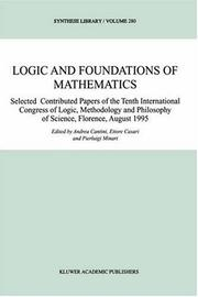 Cover of: Logic and foundations of mathematics