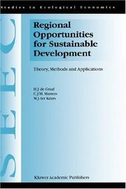 Cover of: Regional Opportunities for Sustainable Development | H.J. de Graaf