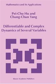 Cover of: Differentiable and complex dynamics of several variables