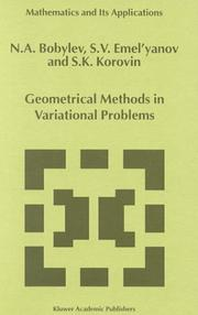 Cover of: Geometrical methods in variational problems
