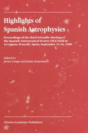 Cover of: Highlights of Spanish astrophysics