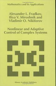 Cover of: Nonlinear and adaptive control of complex systems