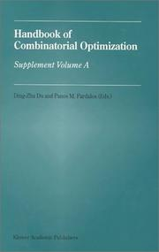 Cover of: Handbook of Combinatorial Optimization - Supplement Volume A |