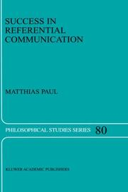 Cover of: Success in referential communication