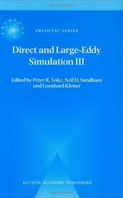 Cover of: Direct and large-eddy simulation III