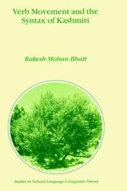 Cover of: Verb movement and the syntax of Kashmiri