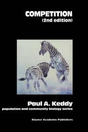 Cover of: Competition | P.A. Keddy