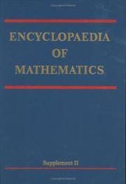 Cover of: Encyclopaedia of Mathematics, Supplement II (ENCYCLOPAEDIA OF MATHEMATICS) (Encyclopaedia of Mathematics) | Michiel Hazewinkel