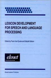 Cover of: Lexicon development for speech and language processing |