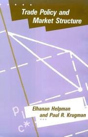 Cover of: Trade policy and market structure | Elhanan Helpman