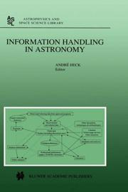 Cover of: Information Handling in Astronomy
