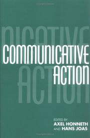 Cover of: Communicative action