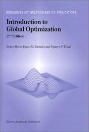 Cover of: Introduction to global optimization