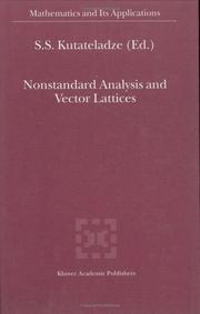 Cover of: Nonstandard Analysis and Vector Lattices
