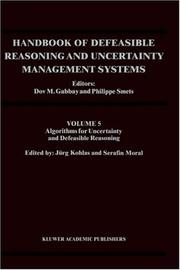 Cover of: Handbook of Defeasible Reasoning and Uncertainty Management Systems - Volume 5 |