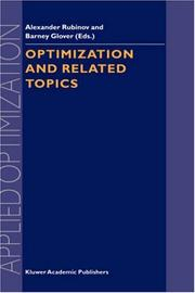 Cover of: Optimization and Related Topics (Applied Optimization, Volume 47) |