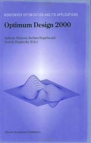 Cover of: Optimum Design 2000 (Nonconvex Optimization and Its Applications) |