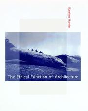 Cover of: The ethical function of architecture