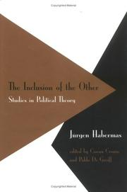 Cover of: The Inclusion of the Other: Studies in Political Theory (Studies in Contemporary German Social Thought)