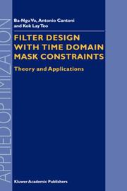 Filter Design with Time Domain Mask Constraints