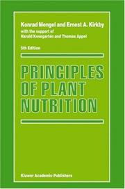 Principles of Plant Nutrition by K. Mengel, Ernest A. Kirkby