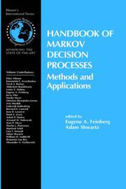 Cover of: Handbook of Markov decision processes | Adam Shwartz