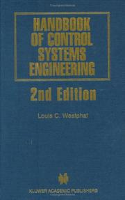 Cover of: Handbook of Control Systems Engineering - Second Edition (THE KLUWER INTERNATIONAL SERIES IN ENGINEERING AND