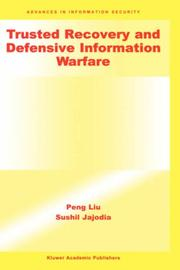 Cover of: Trusted Recovery and Defensive Information Warfare (Advances in Information Security) | Peng Liu