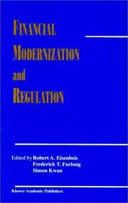 Cover of: Financial Modernization and Regulation (Journal of Financial Services Research, Volume 16.2/16.3) |
