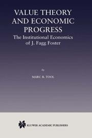 Cover of: Value Theory and Economic Progress