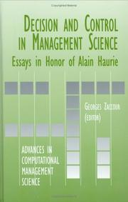 Cover of: Decision & Control in Management Science | Georges Zaccour
