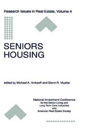 Cover of: Seniors Housing (Research Issues in Real Estate) |