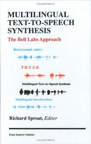 Cover of: Multilingual text-to-speech synthesis |