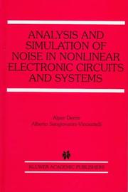 Cover of: Analysis and simulation of noise in nonlinear electronic circuits and systems