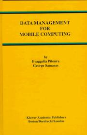 Cover of: Data management for mobile computing