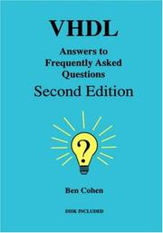 Cover of: VHDL answers to frequently asked questions