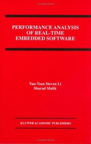 Cover of: Performance analysis of real-time embedded software