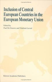 Cover of: Inclusion of Central European countries in the European Monetary Union |