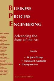 Cover of: Business process engineering |