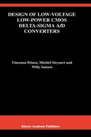 Cover of: Design of low-voltage low-power CMOS Delta-Sigma A/D converters | Vincenzo Peluso