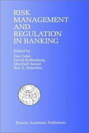 Cover of: Risk management and regulation in banking