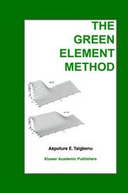 Cover of: The green element method