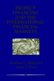 Cover of: Project Financing and the International Financial Markets | Esteban C. Buljevich