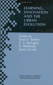 Cover of: Learning, Innovation and the Urban Evolution |